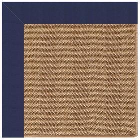 "Islamorada-Herringbone Canvas Royal Navy - Rectangle - 24"" x 36"""