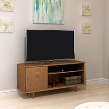Fairgrove TV Stand for TVs up to 60 inches, Mahogany Cherry