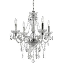 AF Lighting Naples Four Light Mini Chandelier- Clear, 8350-4H