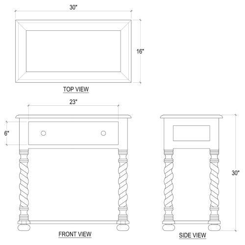 Regency Side Table