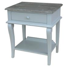 See Details - Scroll Side Table- Gry/rw