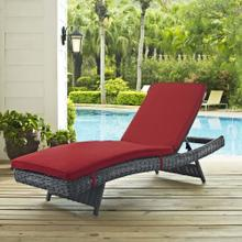 Summon Outdoor Patio Sunbrella® Chaise in Canvas Red