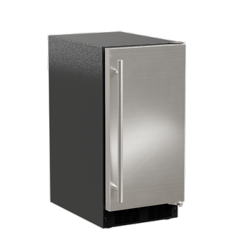 Marvel - 15-In Low Profile Built-In Clear Ice Machine, Gravity Drain Application with Door Style - Stainless Steel