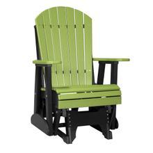 See Details - 2 Adirondack Glider Chair, Lime-green-black