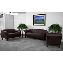 HERCULES Imperial Series Brown LeatherSoft Loveseat