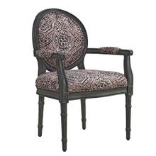 Upholstered Seat and Back Accent Chair, Grey