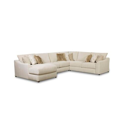 Lane Home Furnishings - 9915 Vivian Four Piece Sectional with Chaise