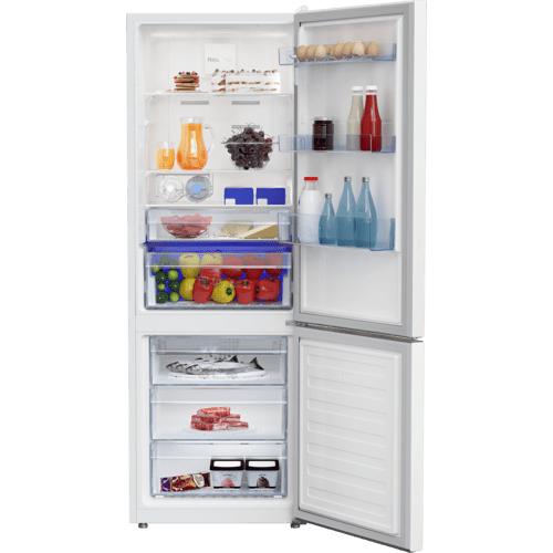 "24"" Freezer Bottom White Refrigerator"