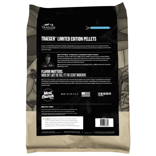 Traeger Grills - Traeger Limited Edition Meat Church Blend Wood Pellets