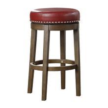 Round Swivel Pub Height Stool, Red