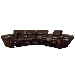 See Details - POWER Left Side Reclining Love Seat with Center Console and LED
