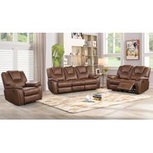 8090 BROWN 3PC Power Recliner Air Leather Living Room SET