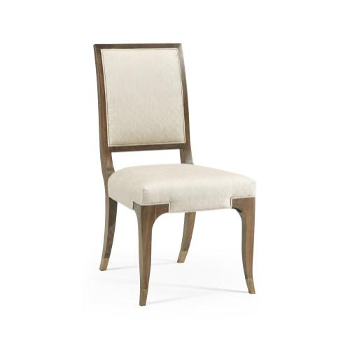 Hamilton Golden Amber Dining Side Chair, Upholstered in Skipper