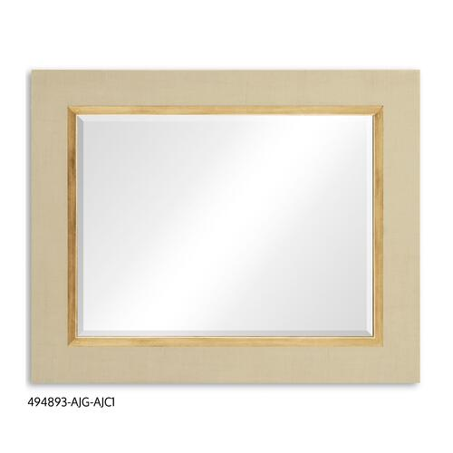 """Homespun"" mirror (Camomile/Gold)"