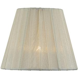 "Candelabra Shade/cream Pleated - 3""tx6""bx5""sl"