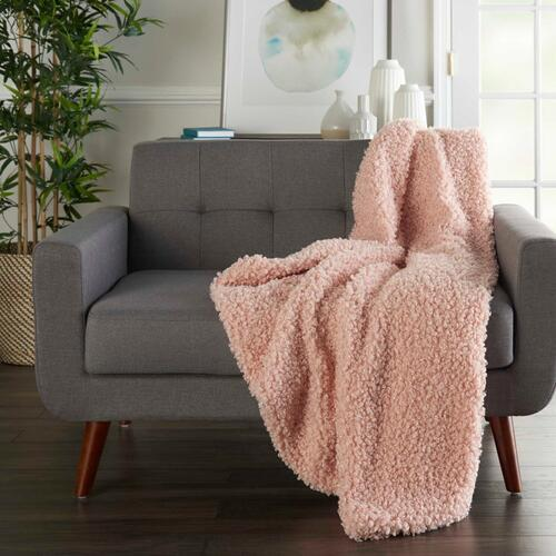 "Faux Fur Fl200 Rose 50"" X 60"" Throw Blanket"