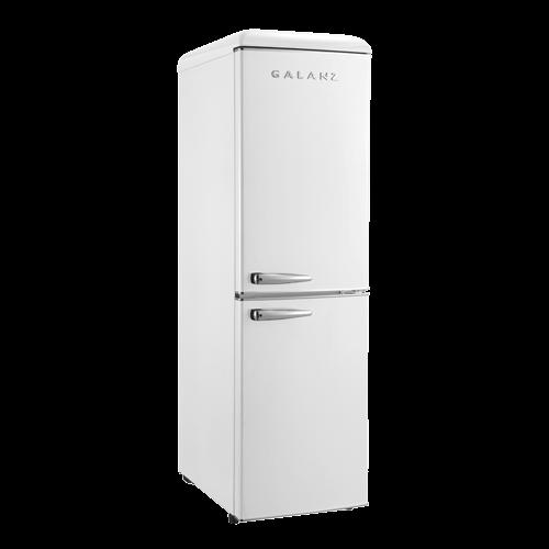 Galanz - Galanz 7.4 Cu Ft Retro Bottom Mount Refrigerator in Milkshake White