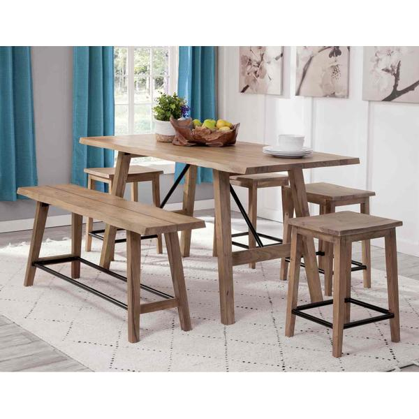 See Details - Tahoe 3-Piece Counter Dining (Counter Table & 2 Counter Benches)