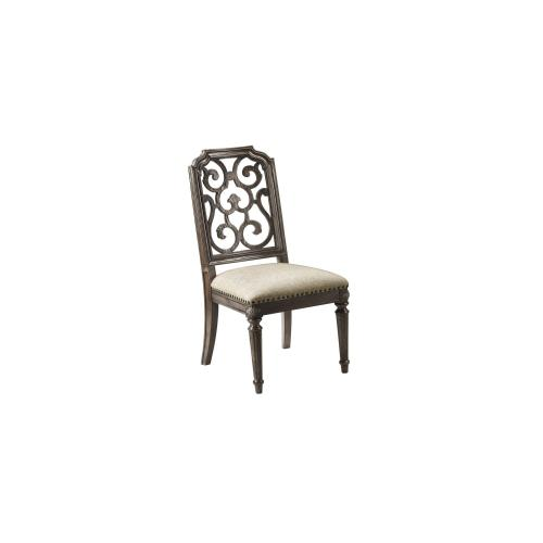 Vintage Salvage Tristan Fret Back Side Chair