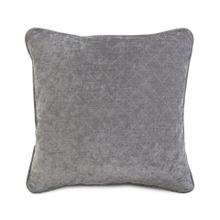 Quilted Solid Toss Pillow in Grey