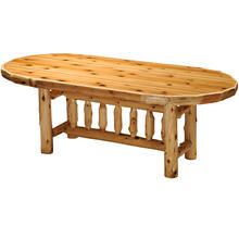 Oval Dining Table - 6-foot - Natural Cedar - Armor Finish