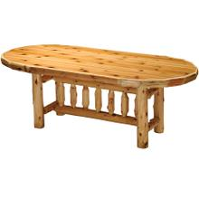 Oval Dining Table - 8-foot - Natural Cedar