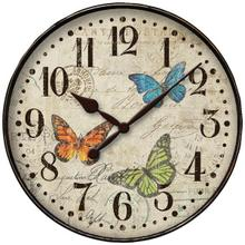 "12"" Round Butterfly Wall Clock"