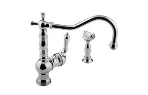 Pesaro Single Lever Kitchen Faucet w/ Side Spray Product Image