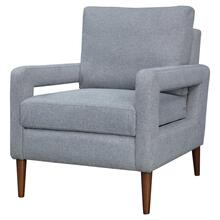 Xavie KD Fabric Accent Arm Chair, Havana Gray