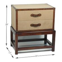 See Details - Beckham 2 Drawer Chest On Stand