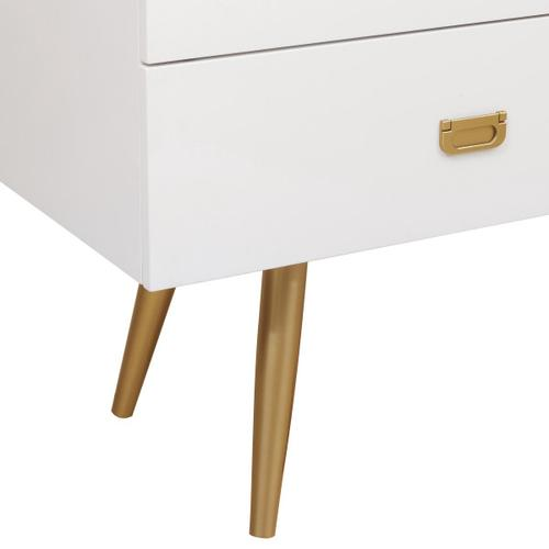 Accentrics Home - White/Gold Four Drawer Chest