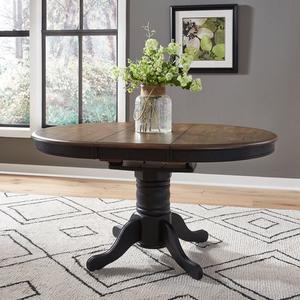Liberty Furniture Industries - 5 Piece Pedestal Table Set- Black