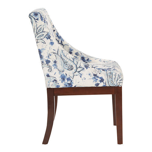 Monarch Dining Chair In Paisley Blue