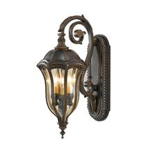 Baton Rouge 3 - Light Wall Lantern Walnut