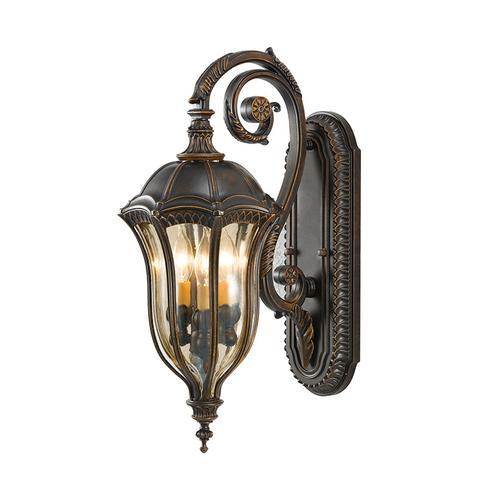 Baton Rouge 3 - Light Wall Lantern Walnut