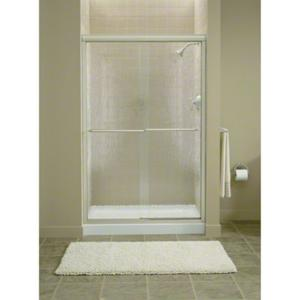 """Finesse™ Sliding Shower Door with Quick Install™ Mounting System - Height 70-5/16"""", Max. Opening 45-1/2"""" - Deep Bronze Product Image"""