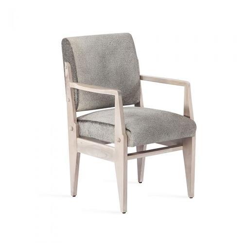 Hale Hide Arm Chair - Whitewash
