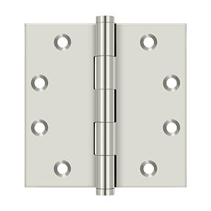 """Deltana - 4-1/2"""" x 4-1/2"""" Square Hinges - Polished Nickel"""
