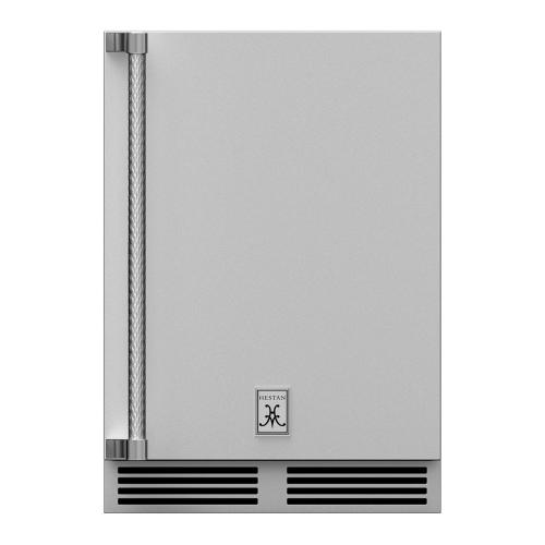 """24"""" Hestan Outdoor Undercounter Refrigerator (Solid Door) - GRSR Series - Stealth"""