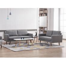 See Details - 8122 2PC LIGHT GRAY Linen Stationary Basic Living Room SET