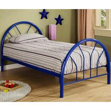 BLUE TWIN SIZE BED