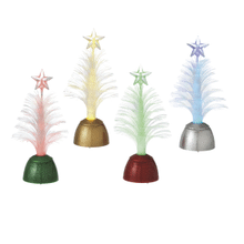 Lighted LED Fiber Optic Tree Mini Shimmers (4 asstd)