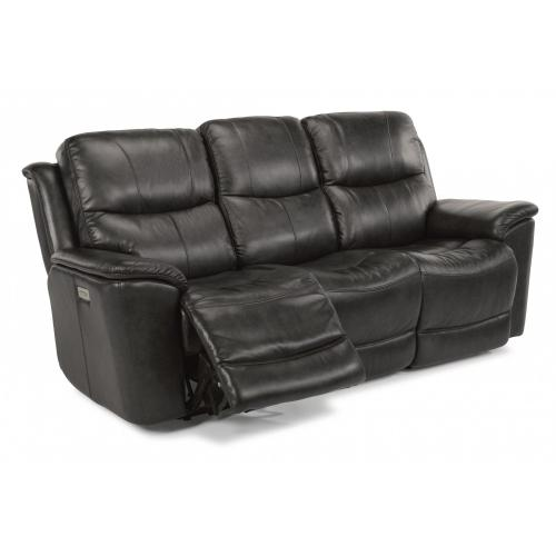 Cade Leather Power Reclining with Power Headrests