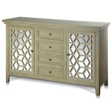 ASHTON CREDENZA  58in w. X 36in ht. X 18in d.  Two Door Four Drawer Credenza made from Chinese Bir
