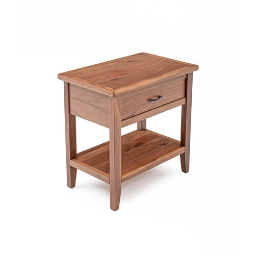 Denver 1 Drawer Nightstand With Shelf - All Walnut