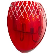 See Details - 2LT RED ETCHED SCONCE -CH