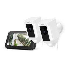 2-Pack Spotlight Cam Wired with Echo Show 5 - White