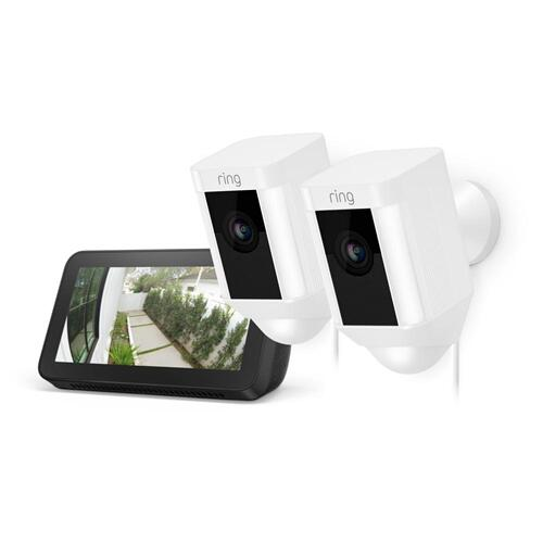 Ring - 2-Pack Spotlight Cam Wired with Echo Show 5 - White
