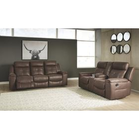 Jesolo Reclining Sofa and Console Loveseat Coffee