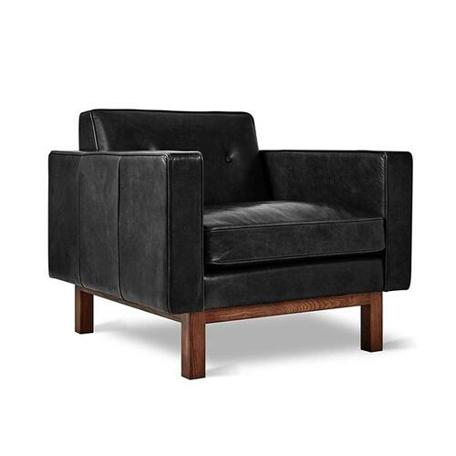 Embassy Chair Saddle Black Leather
